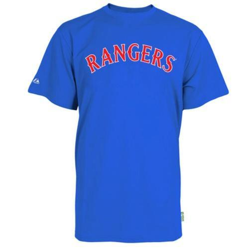 Texas Rangers Replica Baseball T-shirt 100% Cool Mesh Fabric - Adult