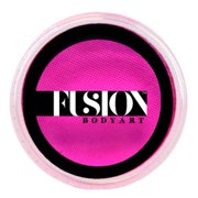 Fusion Body Art Pro Face Paint | Prime Pink Sorbet (32gm), Professional Quality Water Activated Face & Body Paint Supplies - Single Makeup Cake – Hypoallergenic, Non-Toxic, Safe, Vegan