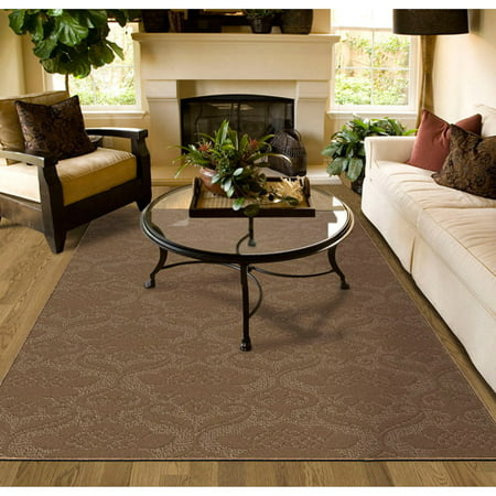 Brown Striped Rug - Garland Victorian Patterned Area Rug