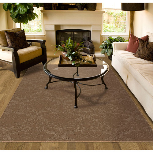 Victorian Cut And Loop Patterned Olefin Area Rug