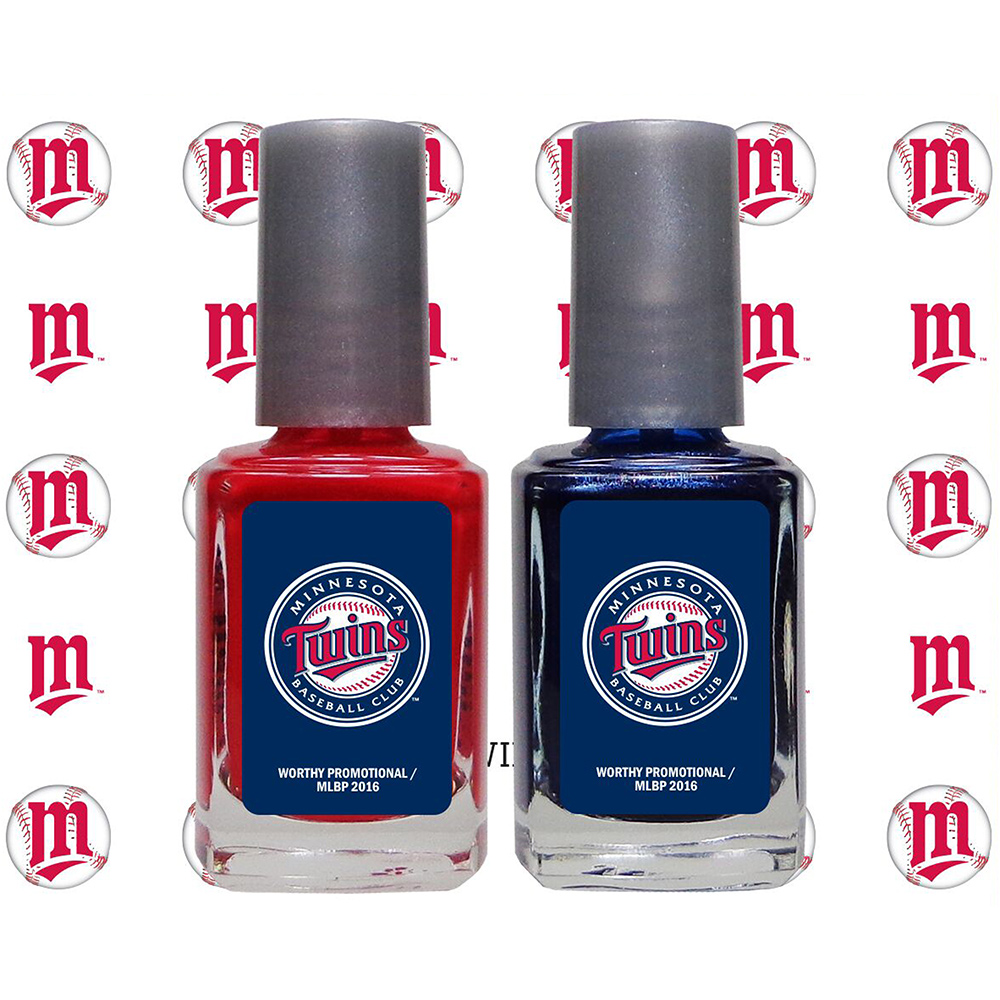 Minnesota Twins 2-Pack Nail Polish with Nail Decal - No Size