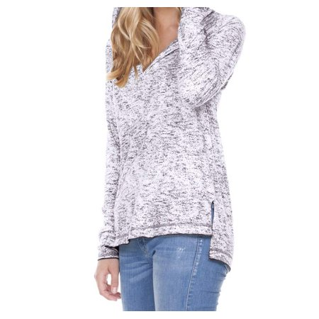 - Women Static Jersey Print Raglan Long Sleeve High Low Hoodie, Style WJP0654