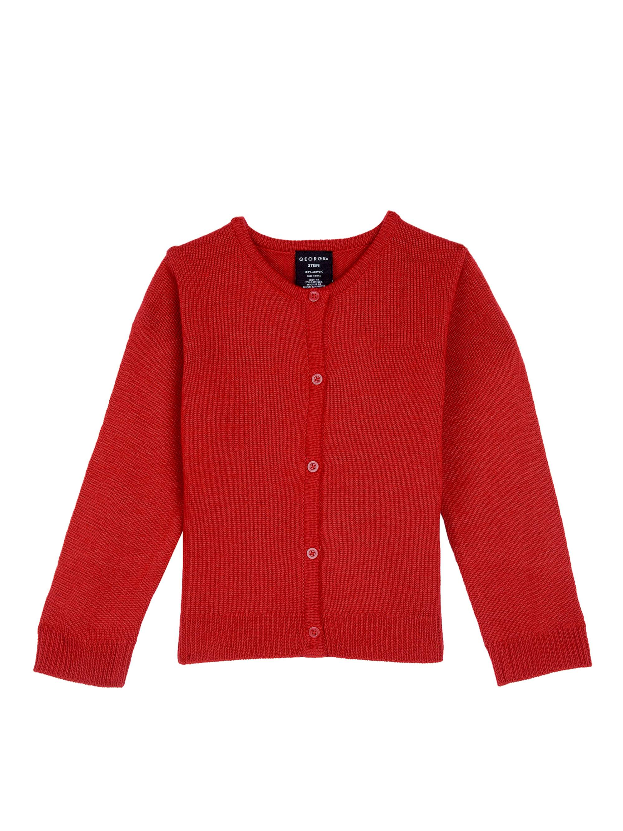 Toddler Girls School Uniform Cardigan Sweater