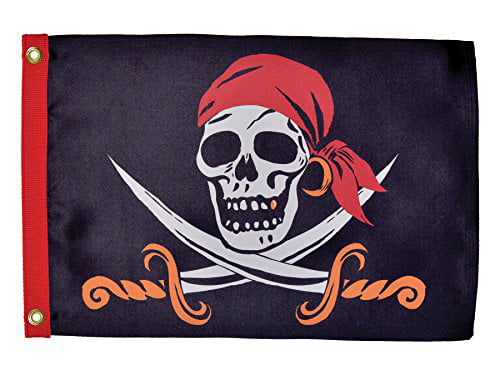 In the Breeze Captain Cutlass Lustre Grommeted Boat Flag, 12 by 18-Inch by In The Breeze