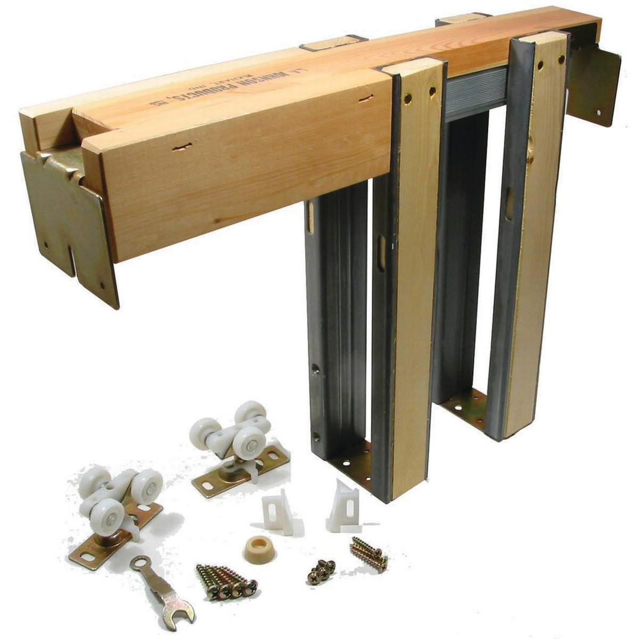 Johnson Hardware 1500 Commercial Grade Pocket Door Frame Kit, For Use With 200 lb Weighing Door