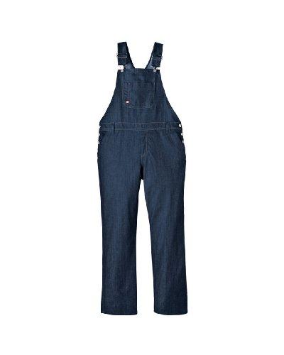 Dickies Women's Denim Bib Overall Jeans, Blue Denim, 2X