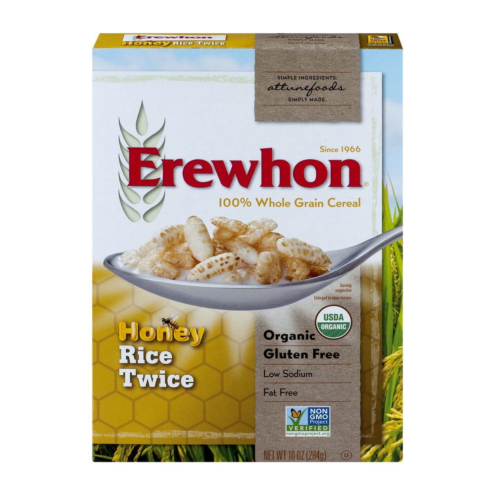 Erewhon 100% Whole Grain Cereal Honey Rice Twice, 10.0 OZ