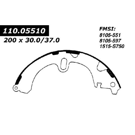 OE Replacement for 1983-1987 Toyota Tercel Rear Drum Brake
