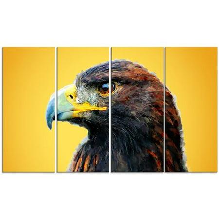 Gold Eagle 4 Piece - Design Art Metal 'Golden Eagle' 4 Piece Graphic Art Set