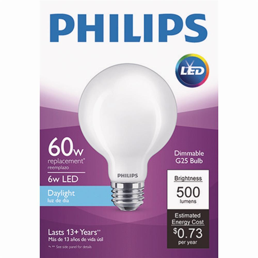 Philips Lighting Co LED G25 60w Dl Fr Bulb 478883