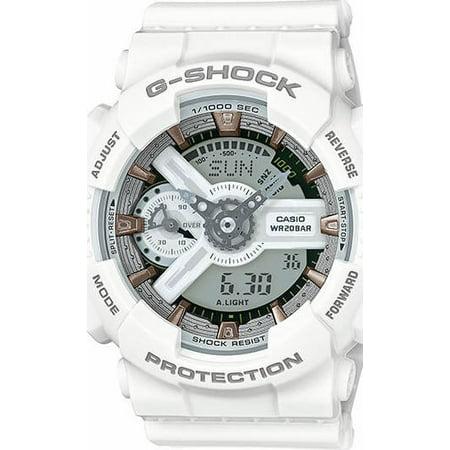 49fcc987afb9b Casio - Women s G-Shock S White Analog-Digital Watch GMAS110CM-7A2 -  Walmart.com