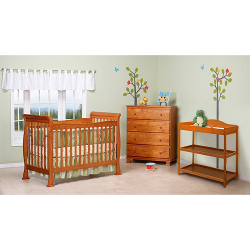 DaVinci Reagan 4-in-1 Convertible Crib w/ Toddler Rail - Oak