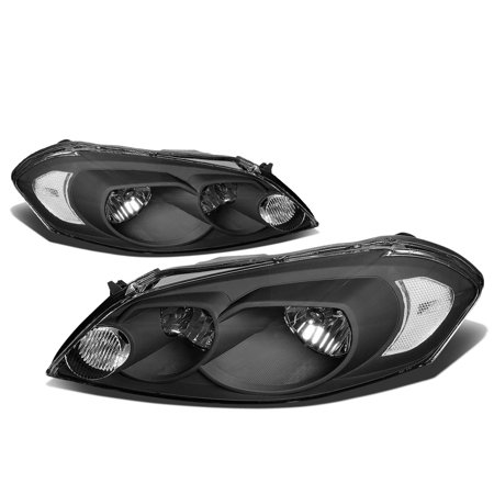 For 06-16 Chevy Impala/Monte Carlo HeadLight Assembly (Black Housing) 07 08 09 10 11 12 13 14 15
