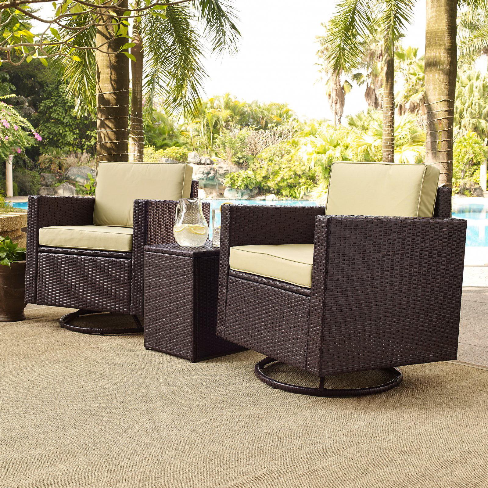 Crosley Palm Harbor Outdoor Wicker Conversation Set, 3-Piece