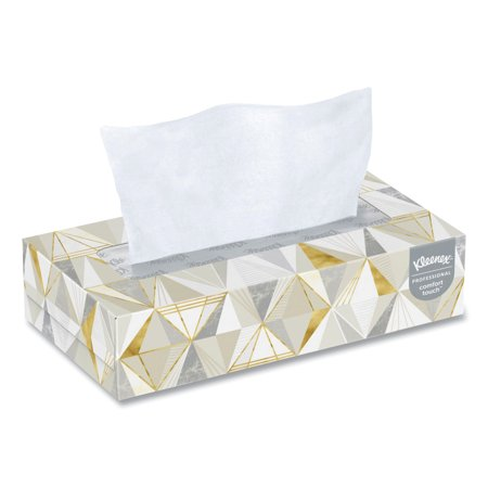 Kleenex Professional Facial Tissue for Business (03076), Flat Tissue Boxes, 12 Boxes/Case, 125 Tissues/Box