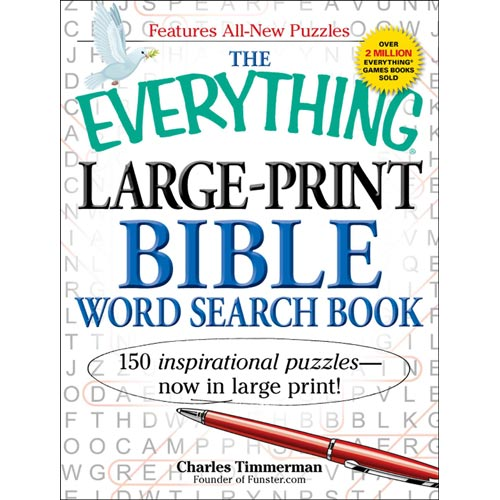 The Everything Large-Print Bible Word Search Book: 150 Inspirational Puzzles