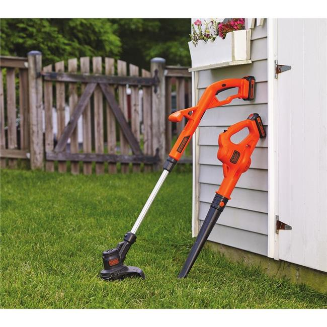 20-Volt Max 10 in. String Trimmer & Edger, Hard Surface Sweeper & 2 Batteries Combo Kit
