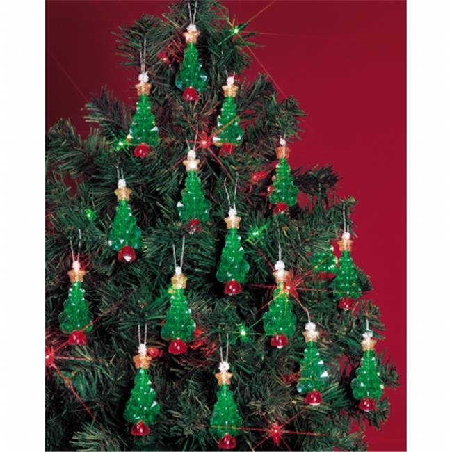 Holiday Beaded Ornament Kit-Mini Trees 2.25'' Makes 24 - image 1 de 1