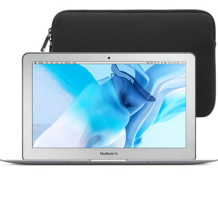 Apple Hdd (Refurbished Apple MacBook Air 11.6-Inch (4GB RAM, 64GB HDD, Intel Core i5 (1.60GHz)) + Laptop Carry On Sleeve Case (MC968LL/A) (Scratches & Dents) )