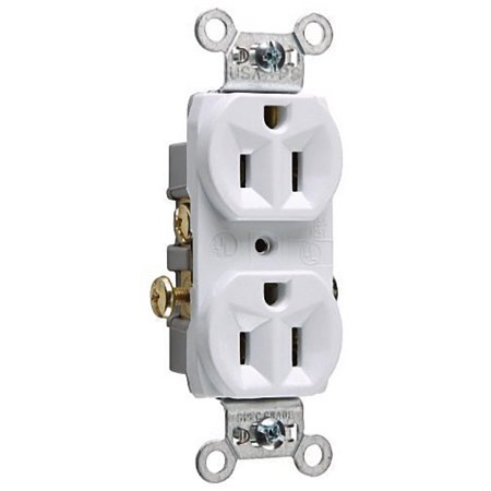 Pass & Seymour White COMMERCIAL GRADE Receptacle Outlet Duplex 15A 125V
