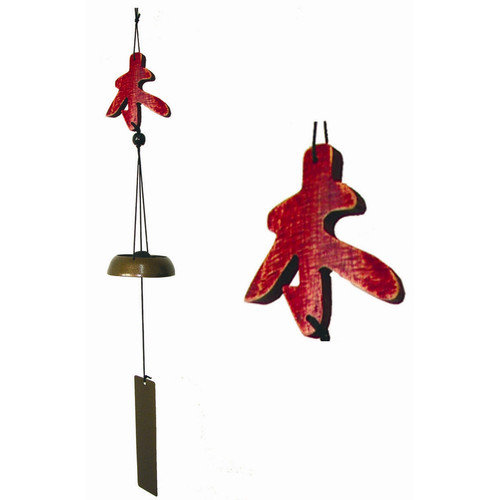 Oriental Furniture Five Elements Wood Wind Chime