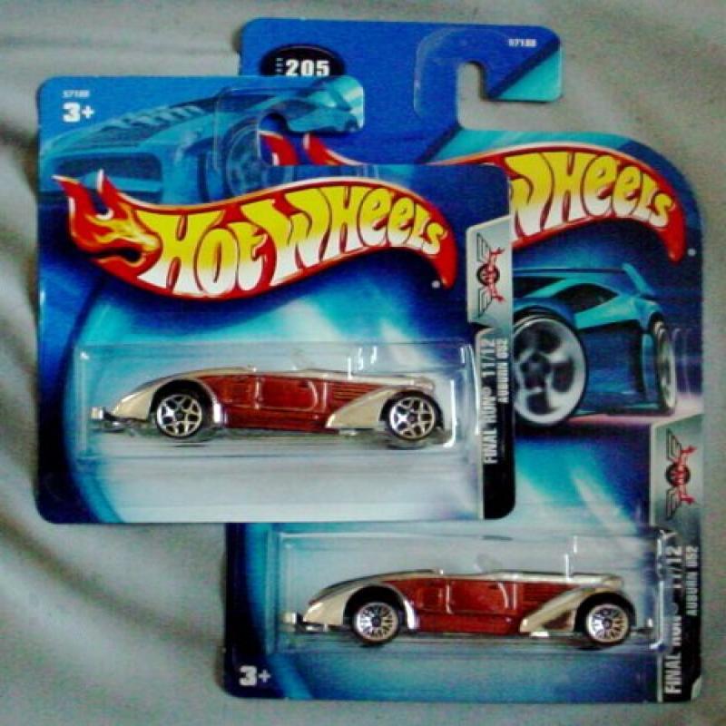 Hot Wheels Final Run 2003 Auburn 852 TWO CARS Card Variation #205