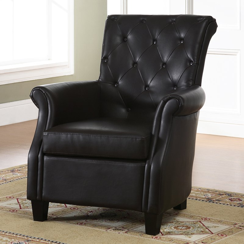 Baxton Studio Brixton Classic and Contemporary Brown Faux Leather Button-tufted Upholstered Armchair by Wholesale Interiors
