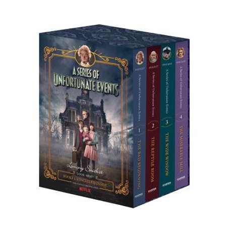 A Series of Unfortunate Events #1-4 Netflix Tie-In Box