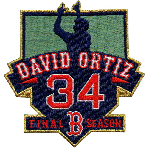 Boston Red Sox David Ortiz  #34 Final Season Patch