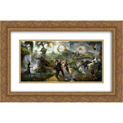 Oz The Great and Powerful 24x16 Double Matted Gold Ornate Framed Movie Poster Art Print