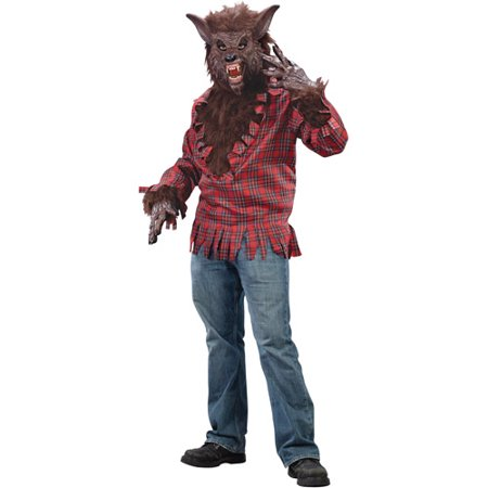 Brown Werewolf Adult Halloween Dress Up / Role Play Costume, Size: Up to 200 lbs - One Size - Werewolf Costume For Sale