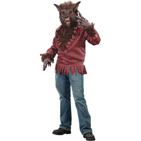 Brown Werewolf Adult Halloween Dress Up / Role Play Costume, Size: Up to 200 lbs - One Size (Dachshunds Dressed Up For Halloween)