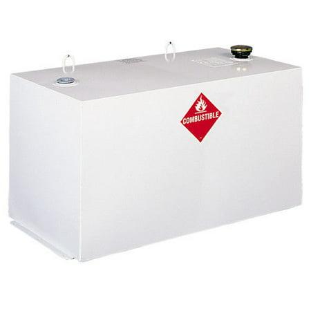 Delta 484000 96 Gallon Rectangular Steel Liquid Transfer Tank - White