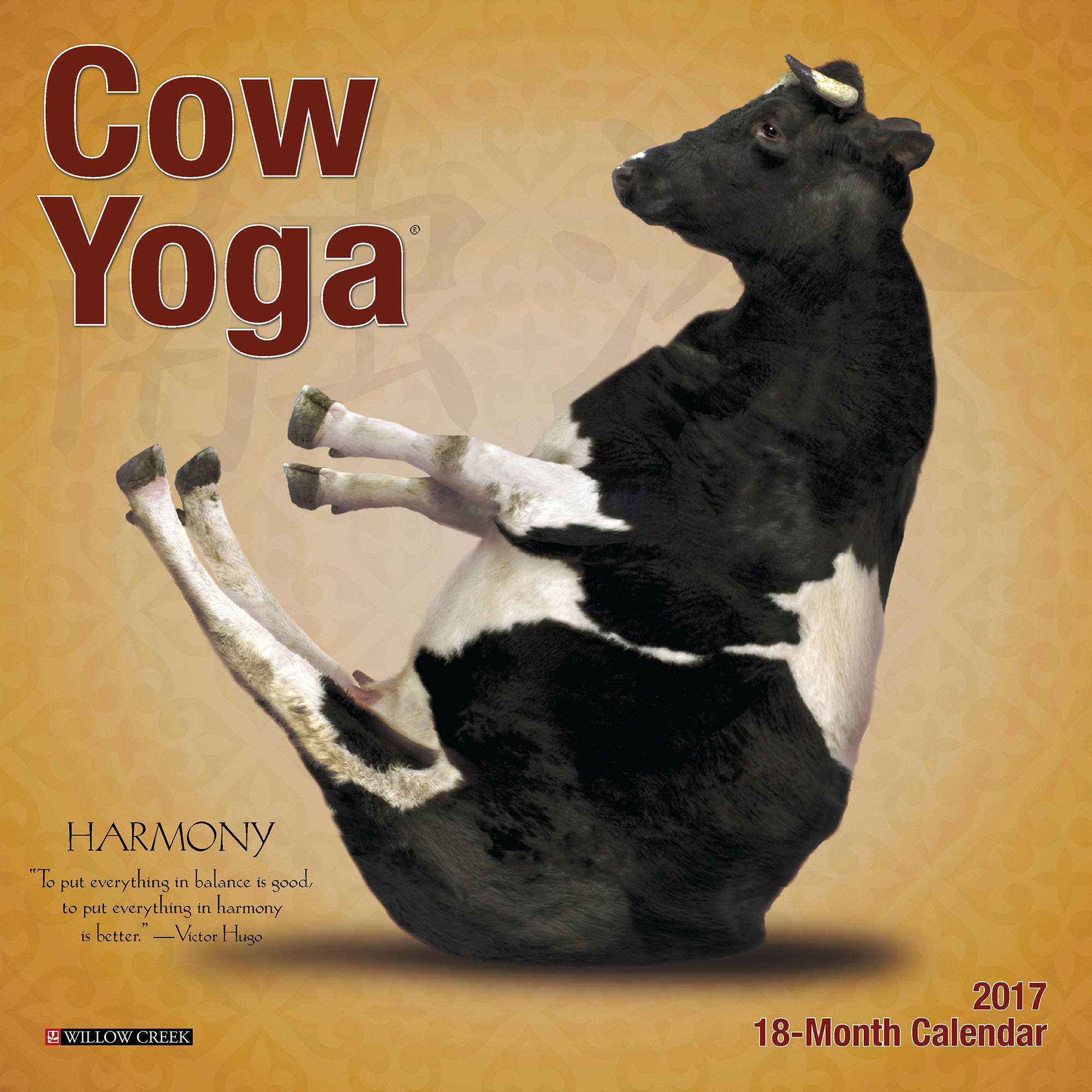 2017 Cow Yoga Wall Calendar