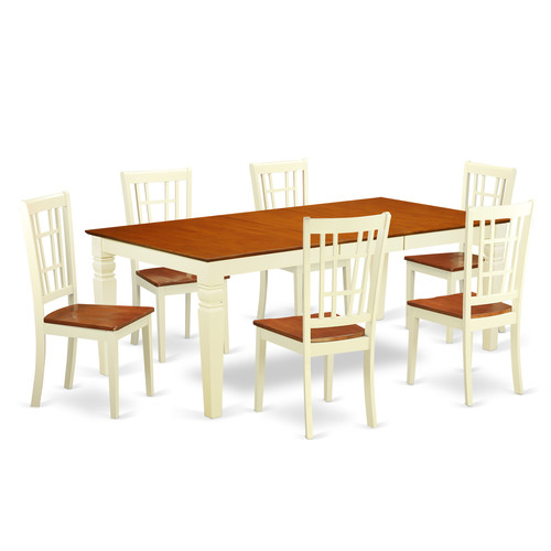 Darby Home Co Beesley 7 Piece Solid Wood Dining Set