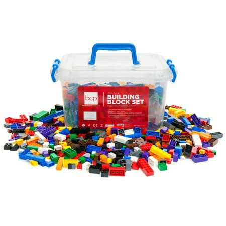 Best Choice Products Deluxe 1000-Piece Building Brick Blocks Set w/ Carrying Case, 14 Shapes, 10 Colors - image 2 de 5