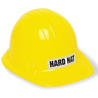 Kids Construction Party Hat, Yellow, 1ct