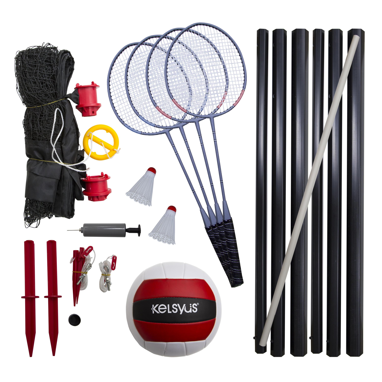 Kelsyus Premium Badminton Volleyball Combo Set