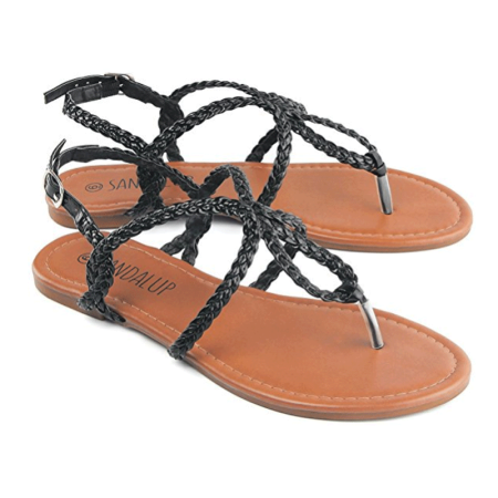 3657fad0ae2a SANDALUP - Braided Gladiator Summer   Fall Shoes Flat Sandal for Women    Juniors