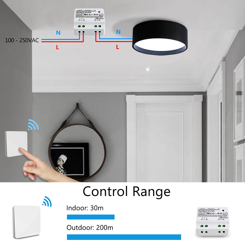 Kinetic Wireless Lights Switch Kit No Battery No Wiring Quick Create Or Relocate On Off Switches For Lamps Fans Appliances Battery Free Self Powered Switch 100 656ft Remote Control House Lighting Walmart Canada