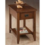 Jofran 1032-7 Chairside Table with Picture Framed Top and Black Mission Hardware