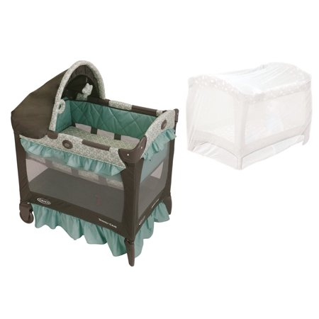 graco travel lite pack n play playard with playpen netting winslet. Black Bedroom Furniture Sets. Home Design Ideas