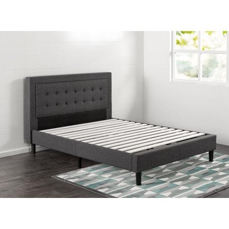 Zinus Dachelle Upholstered Button Tufted Premium Platform Bed, Multiple Sizes ()