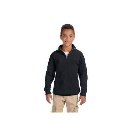 - Jerzees Youth 8 oz. NuBlend® Quarter-Zip Cadet Collar Sweatshirt
