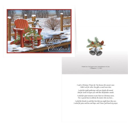 Adirondak Chair Christmas Card Set of 20 Choir Christmas Card