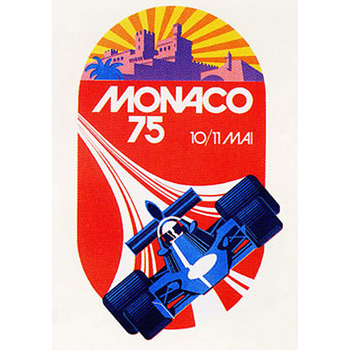 "Trademark Fine Art ""Monaco 1975"" Canvas Art by George Ham, 18x24"