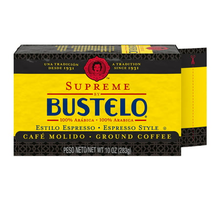 Supreme by Bustelo Espresso Ground Coffee, 10-Ounce Brick