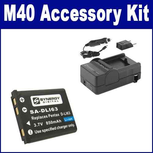 Pentax Optio RZ 18 Digital Camera Accessory Kit includes: SDDLi92 Battery KSD2GB Memory Card ZELCKSG Care /& Cleaning SDM-192 Charger