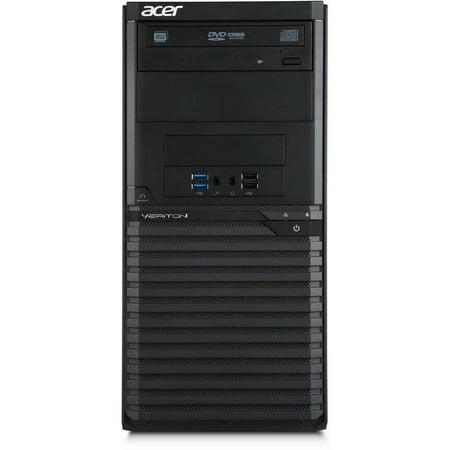 Acer Black Veriton M2632g Desktop Pc With Intel Pentium G3250 Dual Core Processor  4Gb Memory  500Gb Hard Drive And Windows 7 Professional  Monitor Not Included