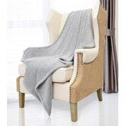 Cable Knit Sherpa Furry Throw Blanket Reversible Super Soft Plush Fuzzy Fleece For Bed